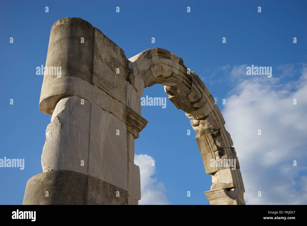 The ancient Greek and Roman periods city of Ephesus in Turkey - Stock Image