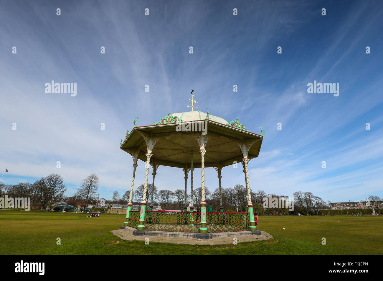 The traditional bandstand within Duthie Park in the city of Aberdeen, Scotland, UK - Stock Image