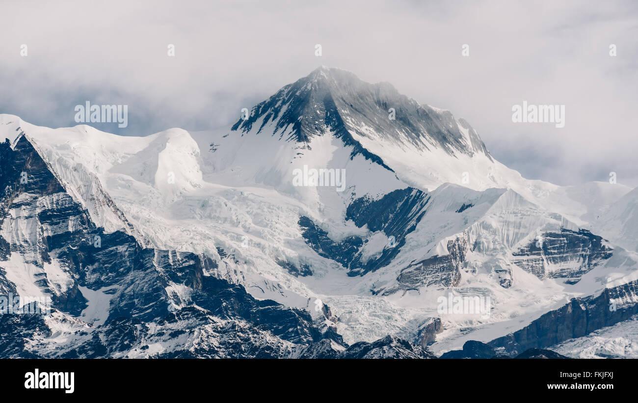 Peak in Nepal, Annapurna range - Stock Image