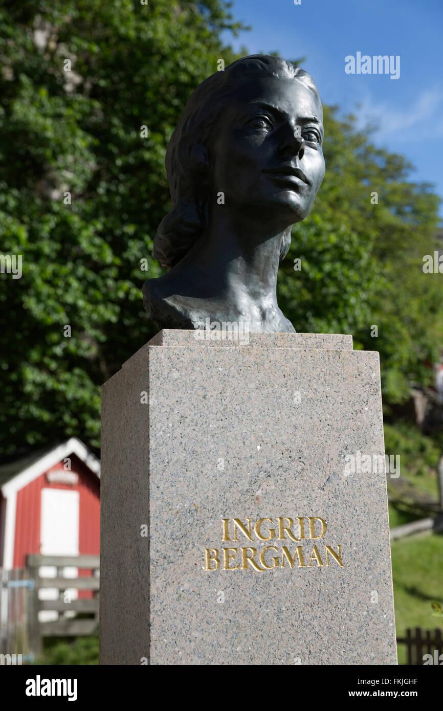 Ingrid Bergman memorial, Fjällbacka, Bohuslän Coast, Southwest Sweden, Sweden, Scandinavia, Europe - Stock Image