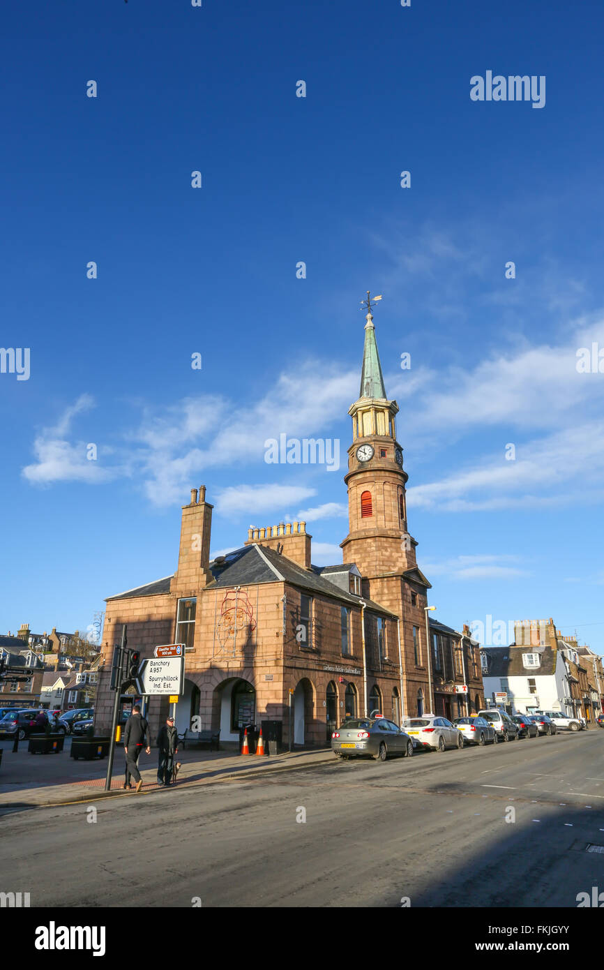 Stonehaven town centre in Aberdeenshire, Scotland, UK - Stock Image