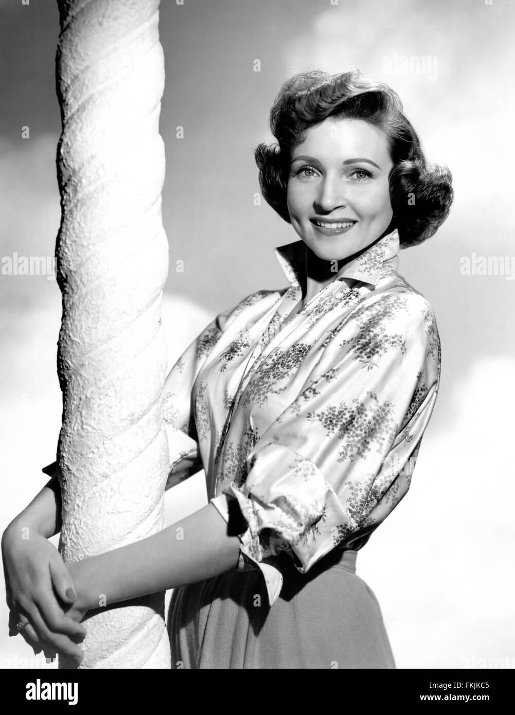 Portrait of White Betty - Stock Image