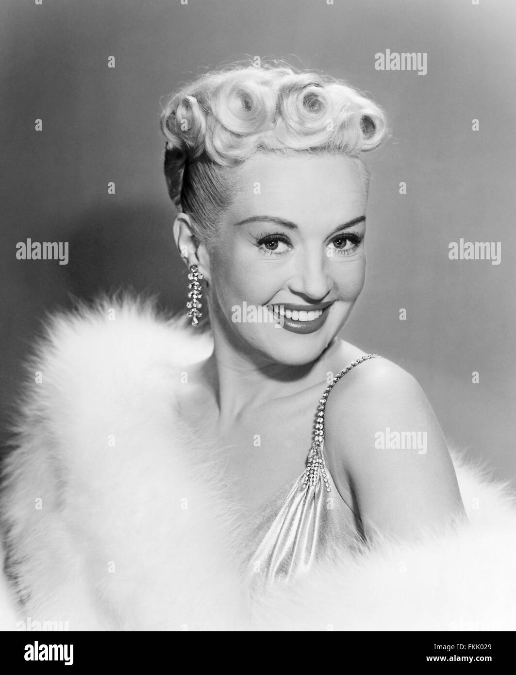 Portrait of Grable Betty - Stock Image