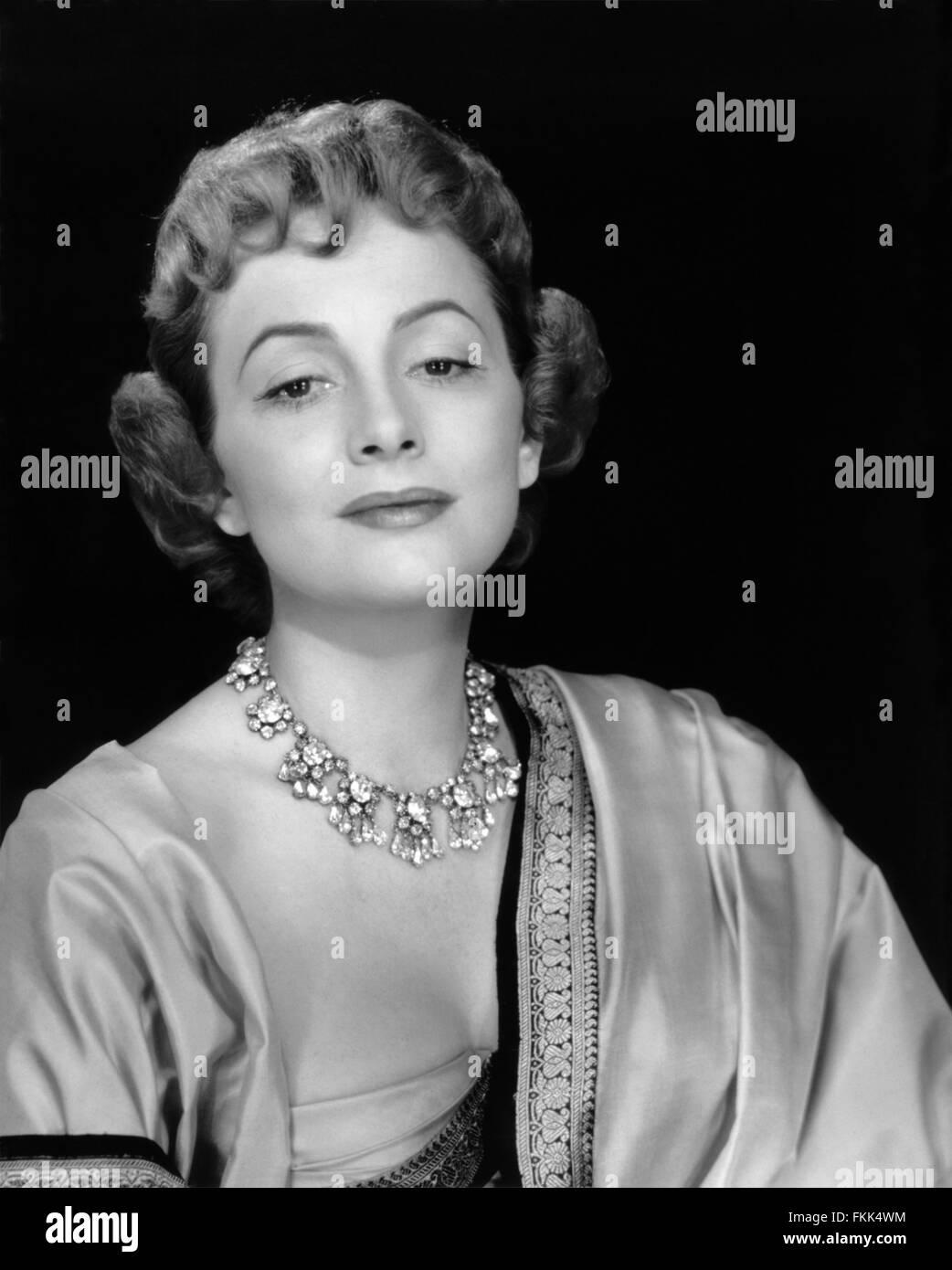 Portrait of de Havilland Olivia - Stock Image
