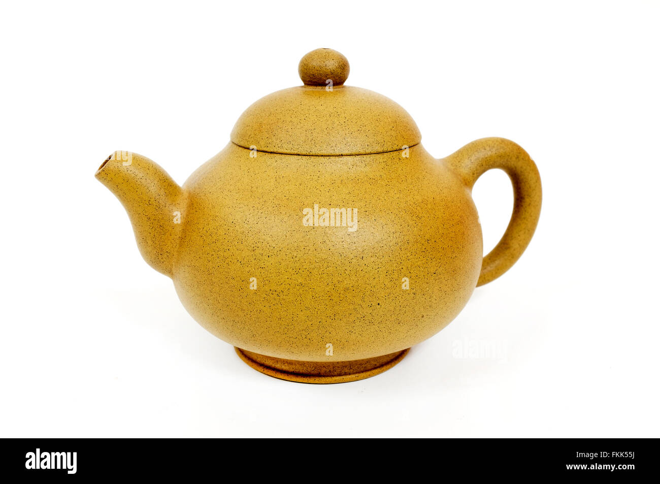 Traditional chinese tea pot on a white background - Stock Image