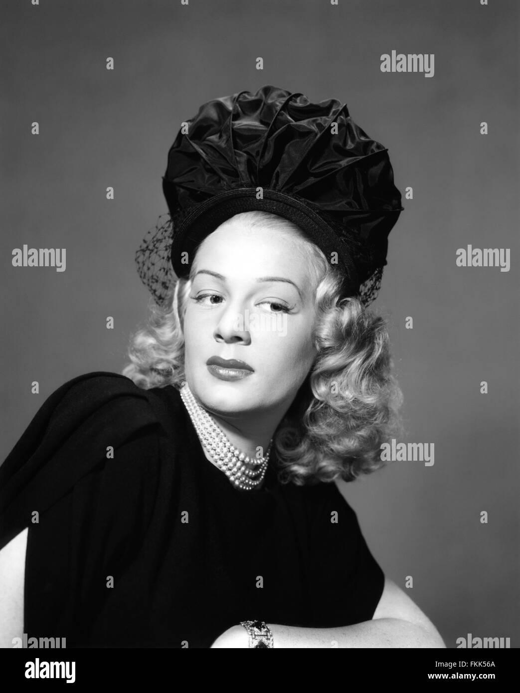 Portrait of Hutton Betty - Stock Image