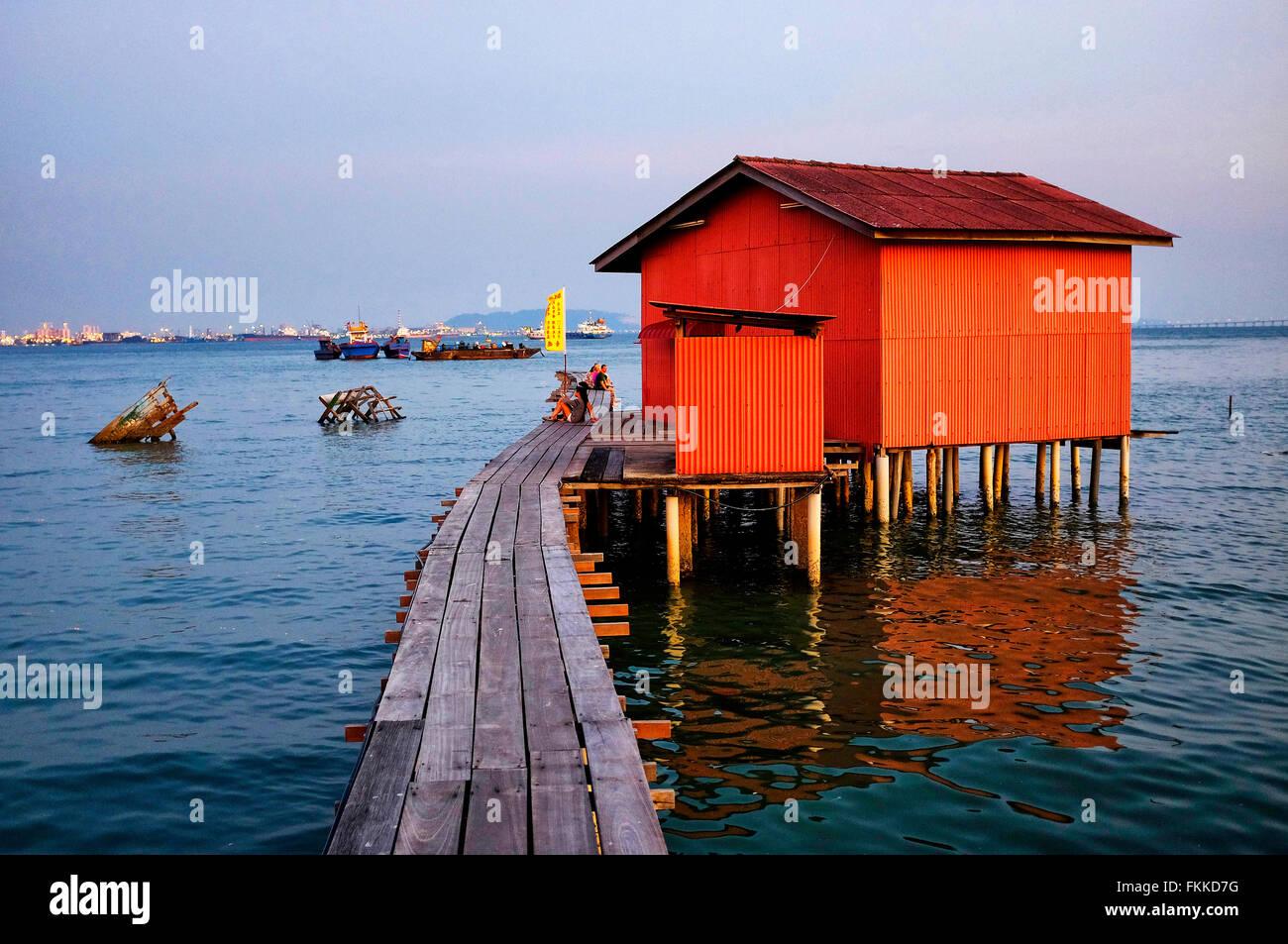 Tan Jetty, George Town, Penang, Malaysia - Stock Image