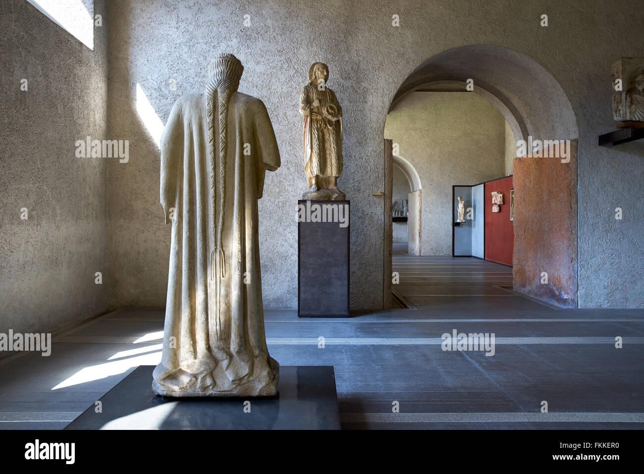 An Interior view of a historic building in Verona, the museum Museo Civico di Castelvecchio - Stock Image