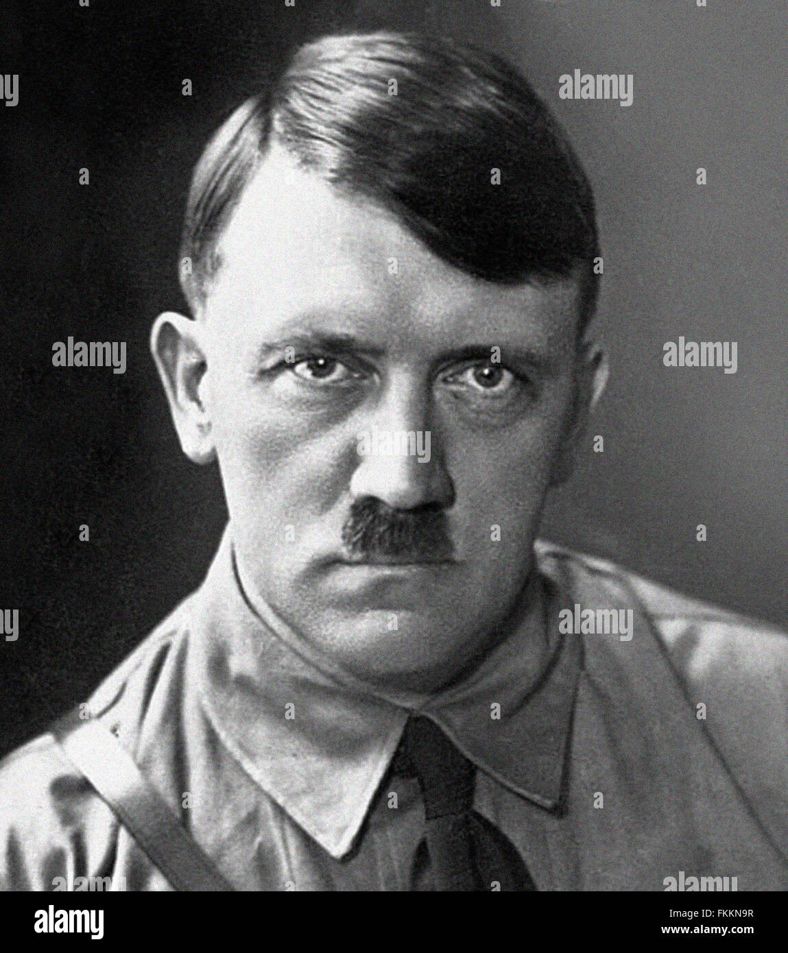 Portrait of Adolf HITLER German wartime leader. New scan from the archives of Press Portrait Service - formerly - Stock Image