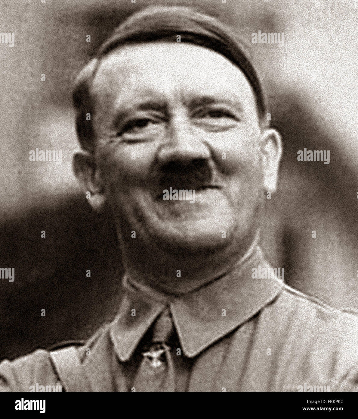 Adolf HITLER - a rare image of the German wartime leader smiling From the archives of Press Portrait Service - formerly - Stock Image