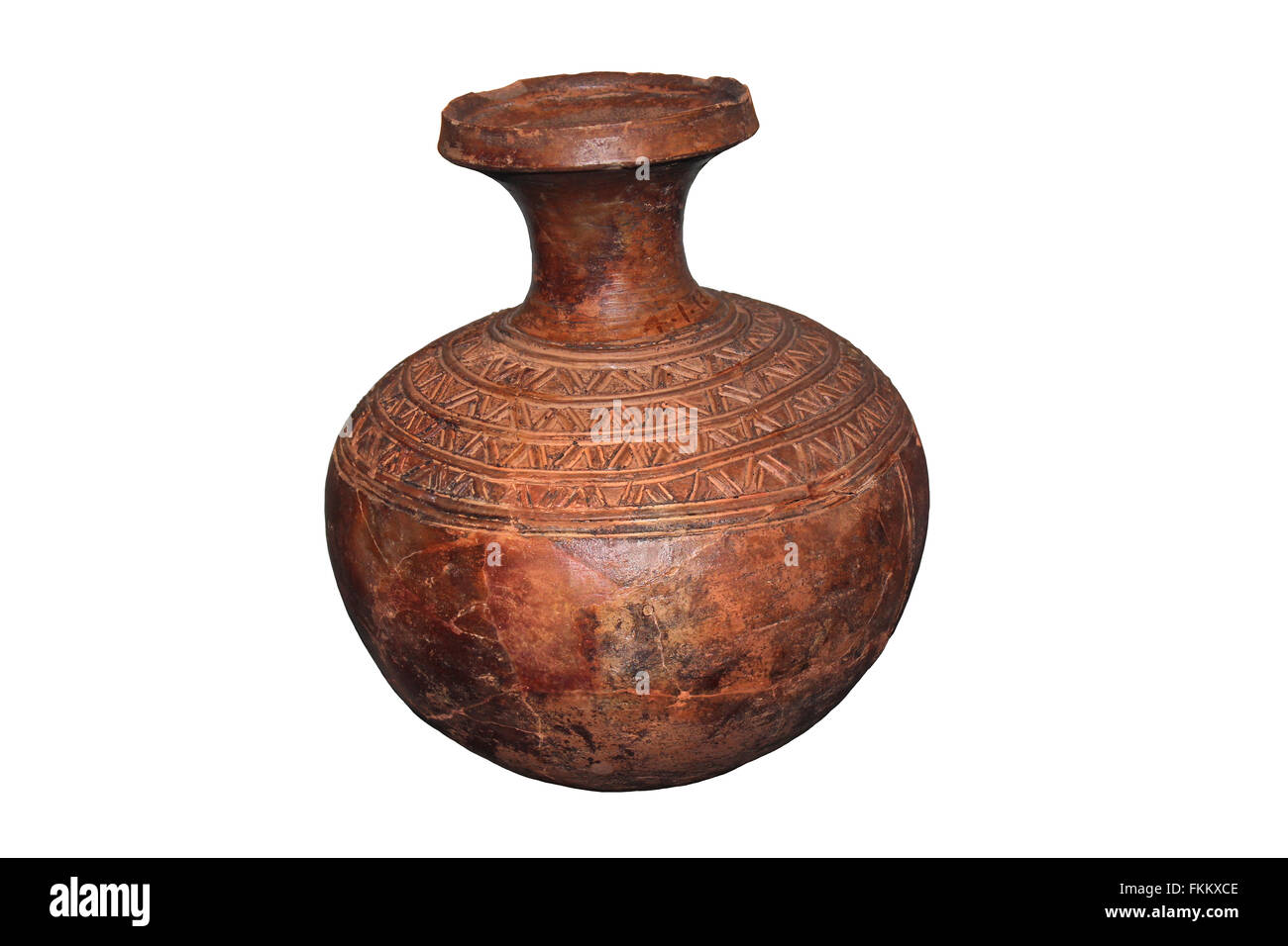 Water Pot, Yoruba, early 20th Century, Llorin, Nigeria, West Africa - Stock Image