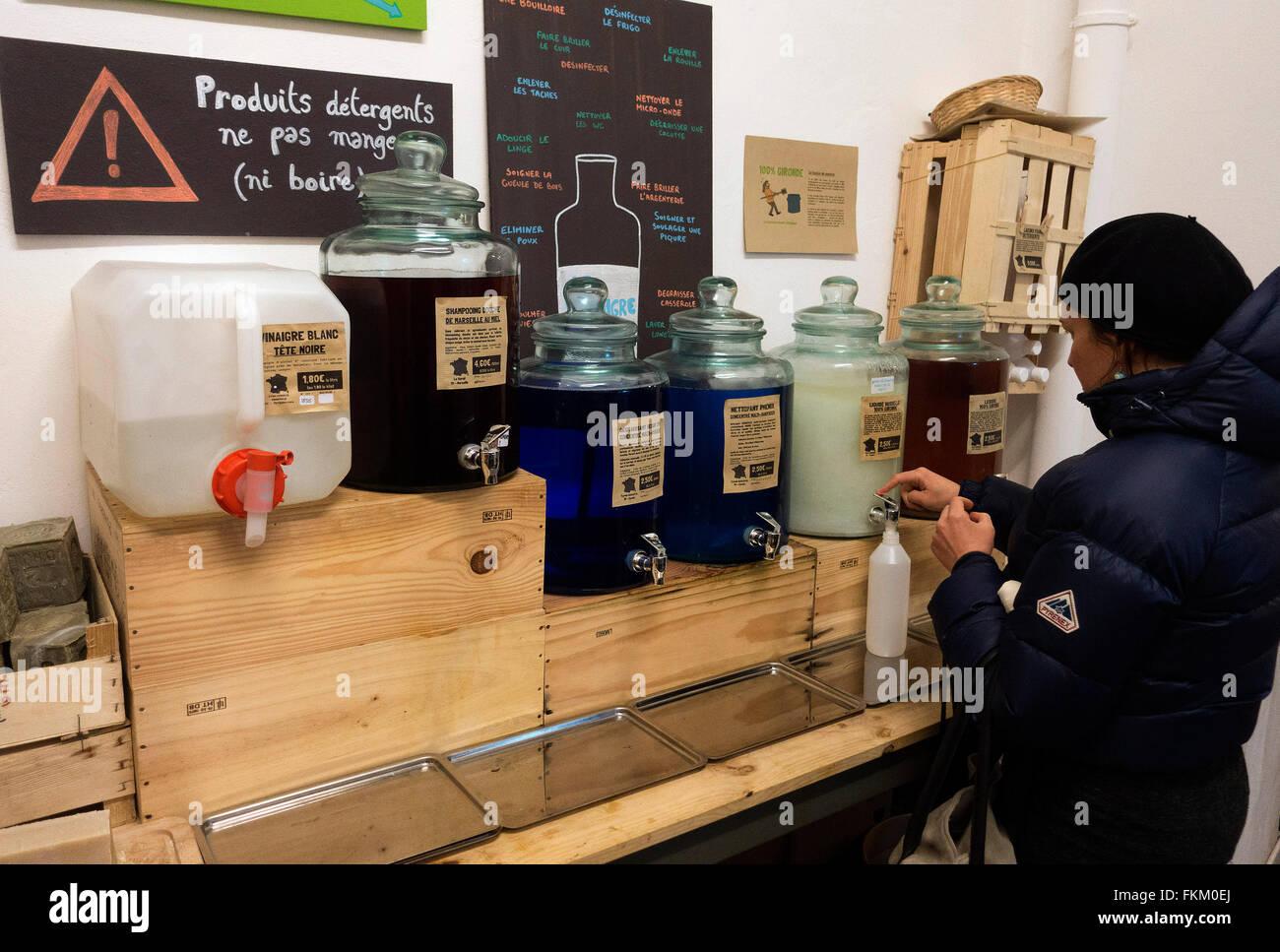 Bordeaux,France: La Recharge shop - Stock Image