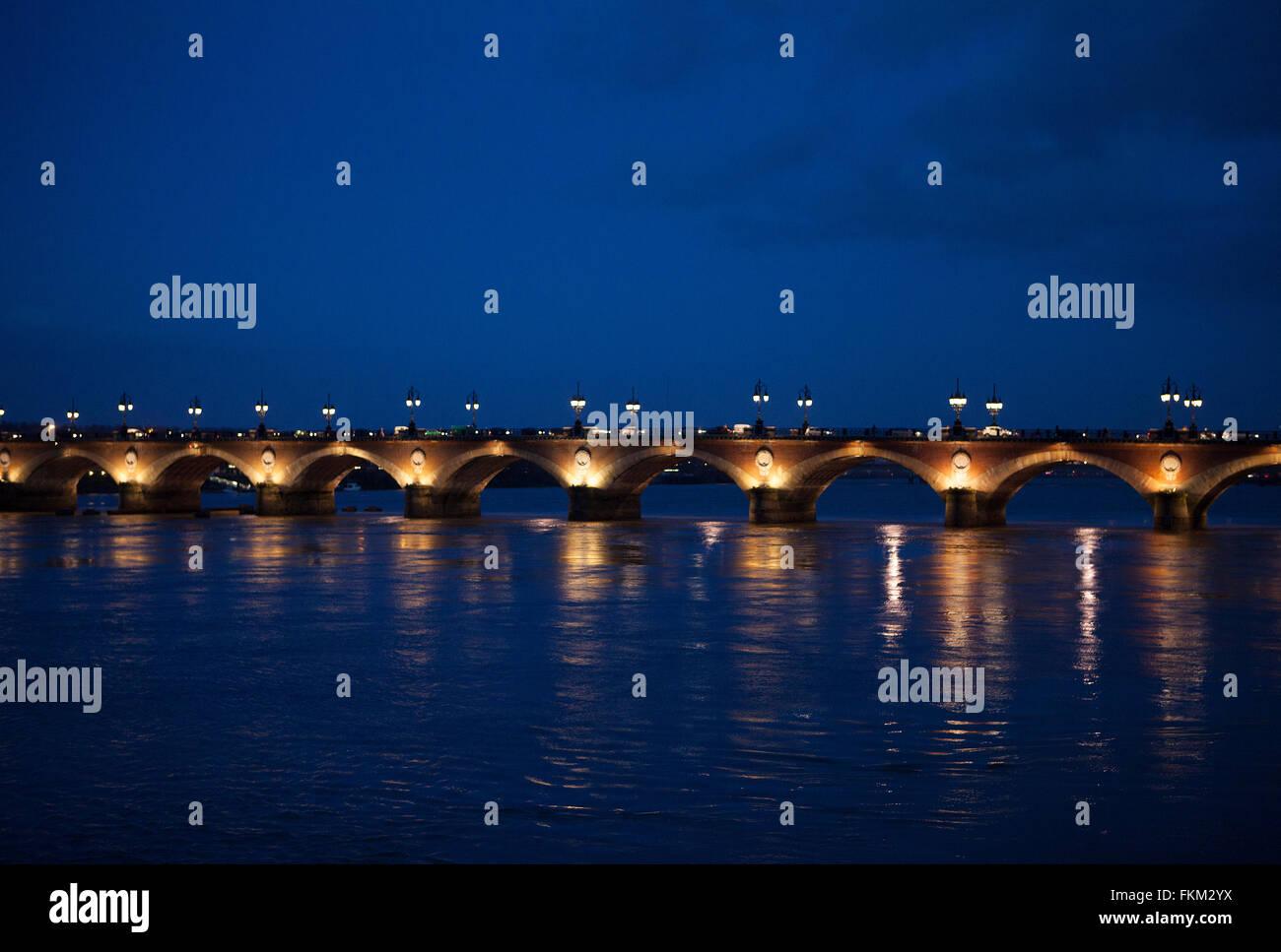 Bordeaux,France: Pont du Pierre - Stock Image