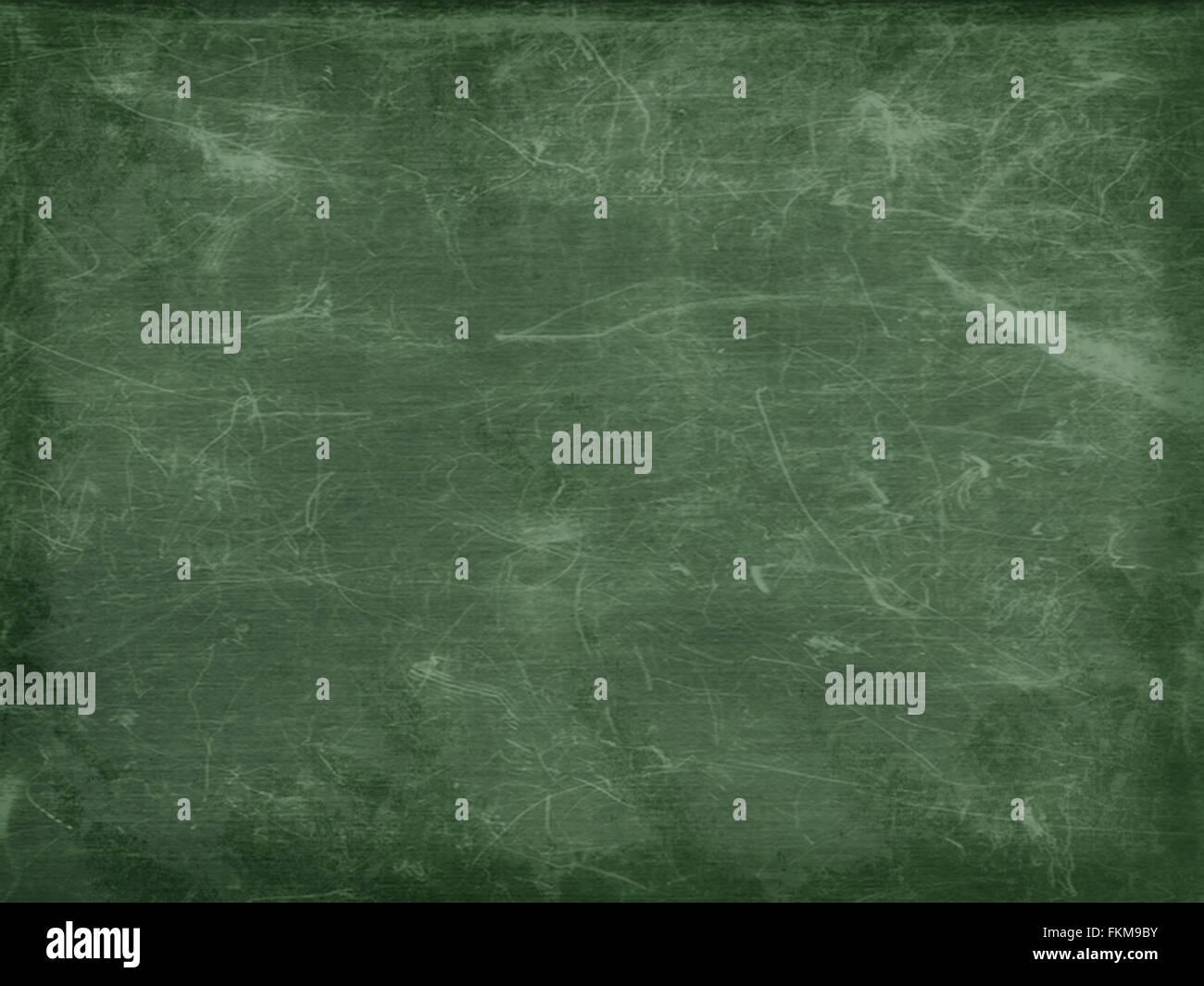 Full Frame Blank Green Chalkboard Background With Vignette