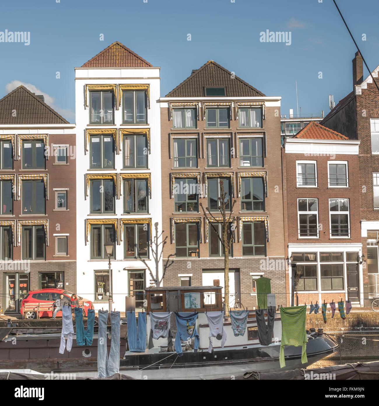 Historical Neighbourhood in Rotterdam, Netherlands Stock Photo