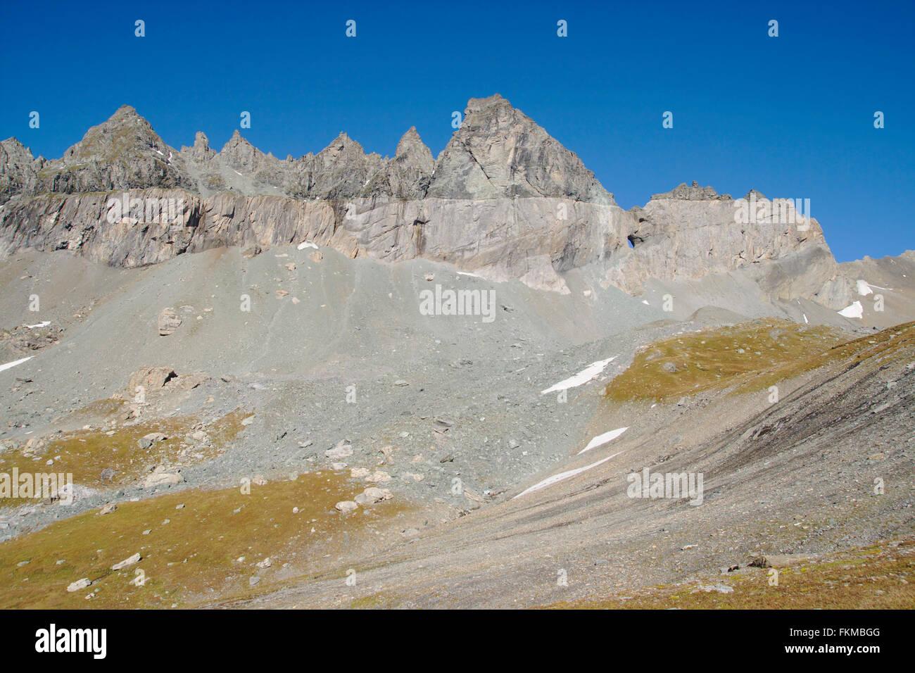 Glarus thrust, Tschingelhörner, Glarus Alps, Switzerland - Stock Image