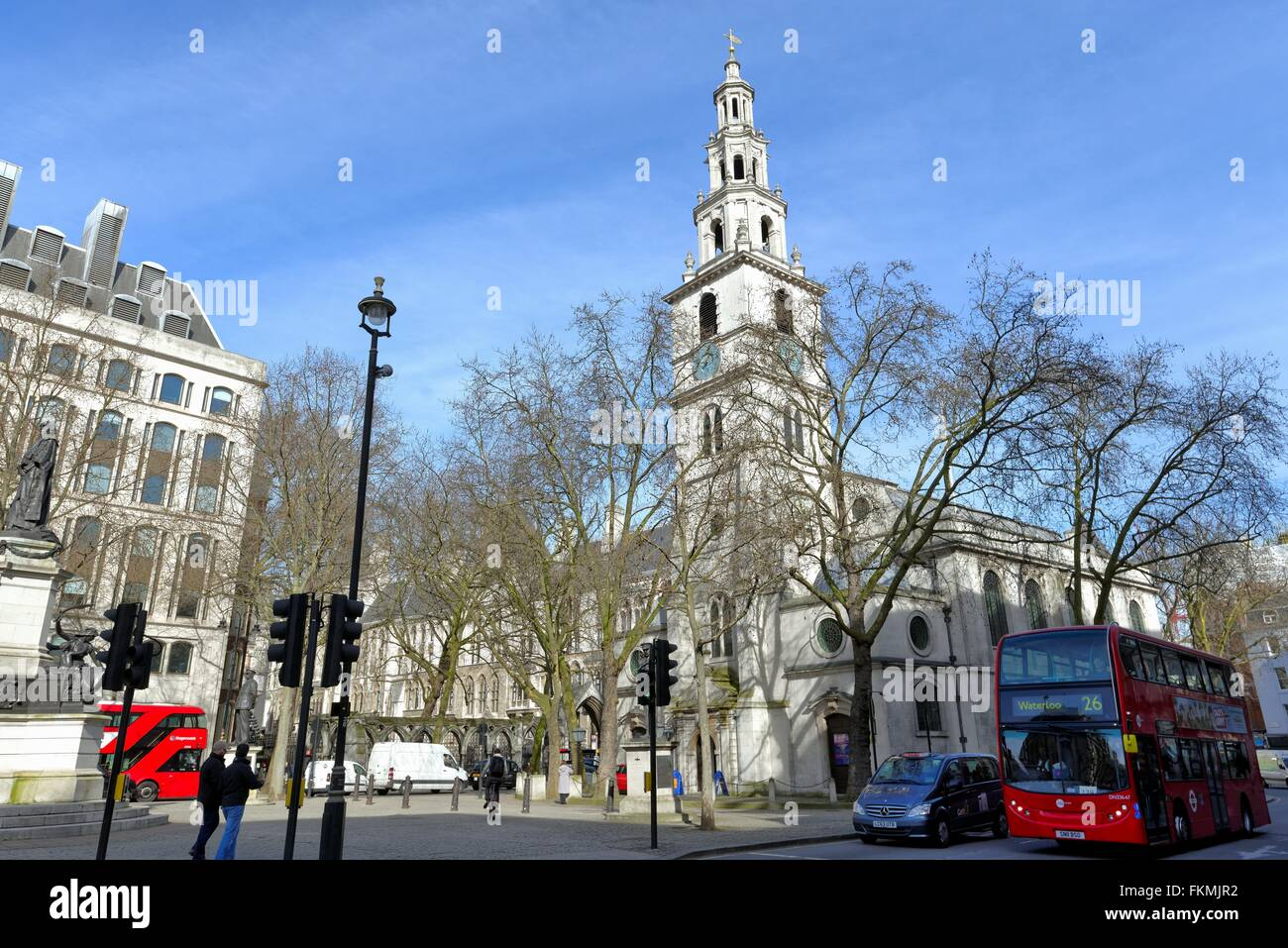 St. Clement Danes church The Strand central London - Stock Image