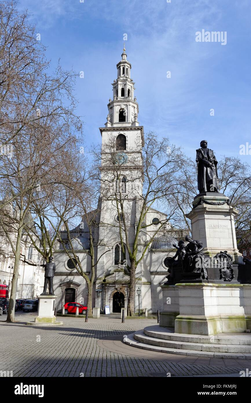 St. Clement Danes church The Strand central London UK - Stock Image