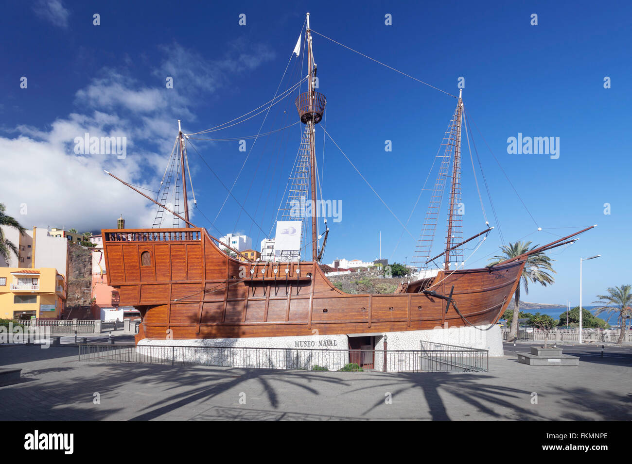 Museum Museo Naval Santa Maria, replica of the flagship of Columbus, Santa Cruz de La Palma, La Palma, Canary Islands, - Stock Image