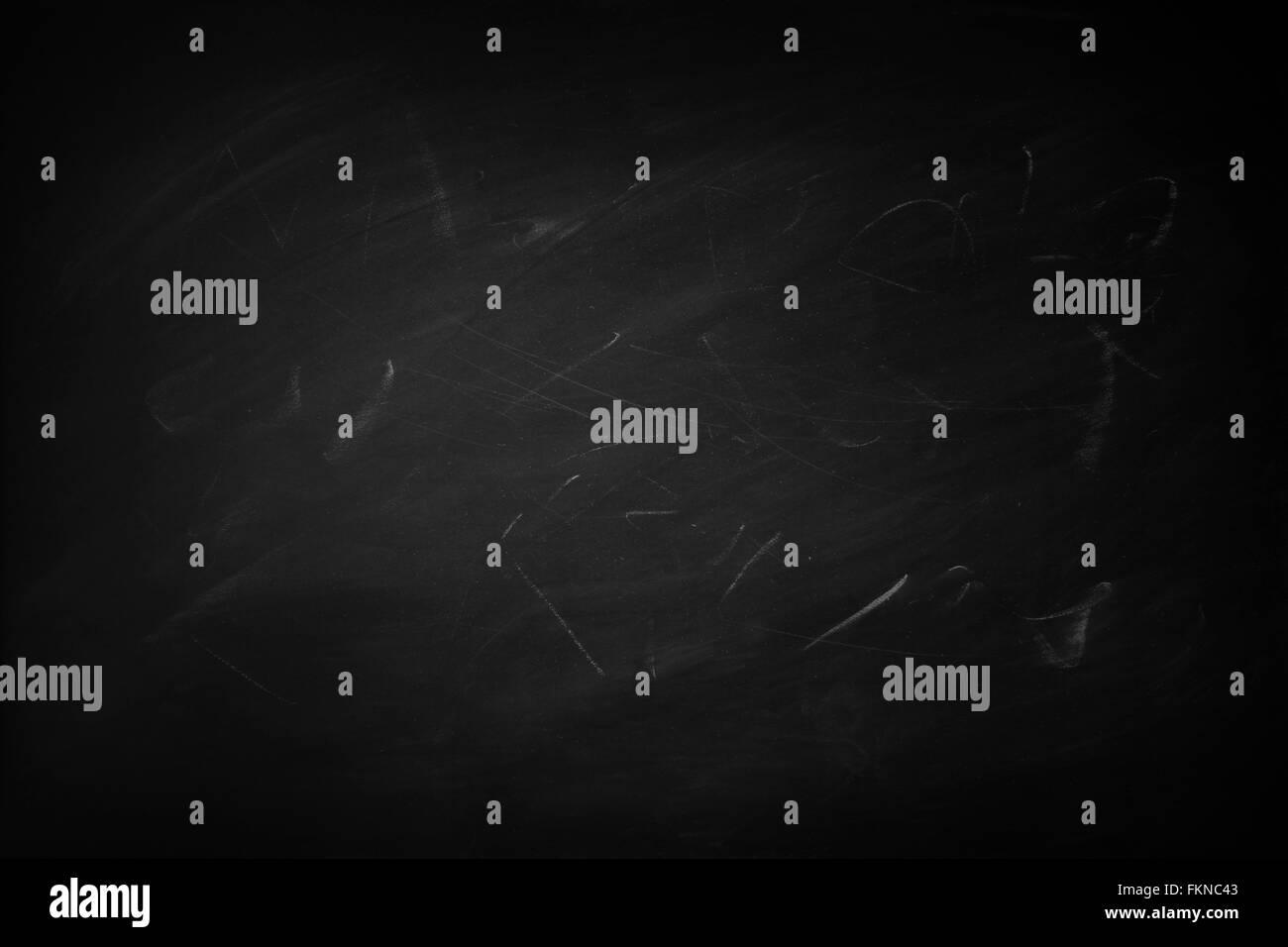 Chalk marks on a blackboard - Stock Image