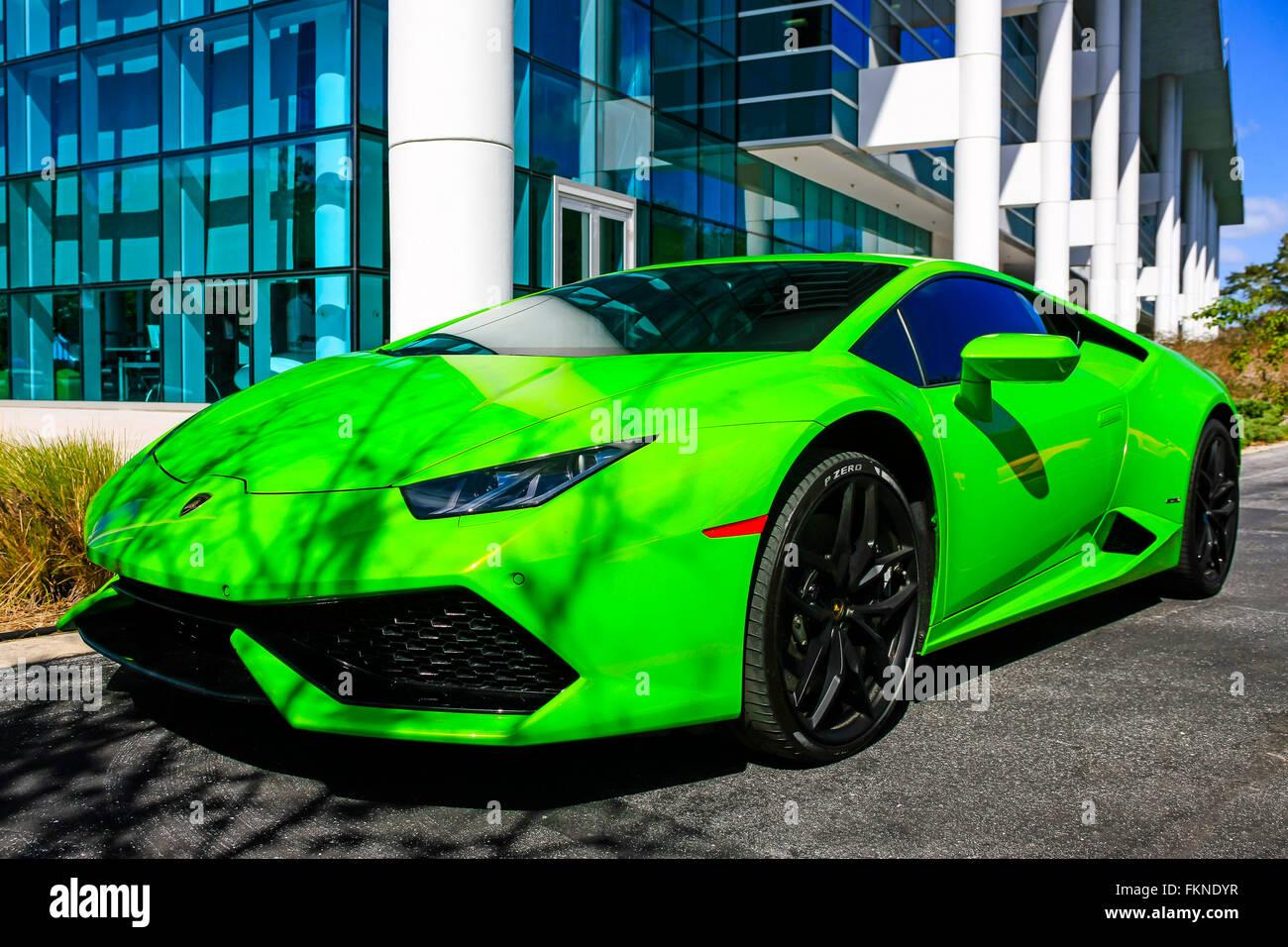 Lime Green Lamborghini Huracan