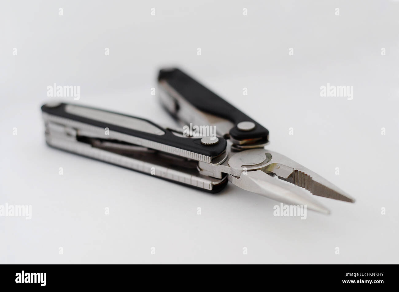 Pocket knife side view - Stock Image