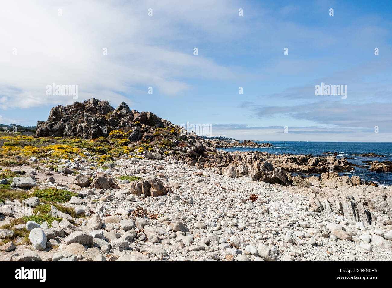 China Rock, 17 Mile Drive, Big Sur, California, USA - July 1, 2012: The 17 Mile Drive is a scenic road through Pacific - Stock Image