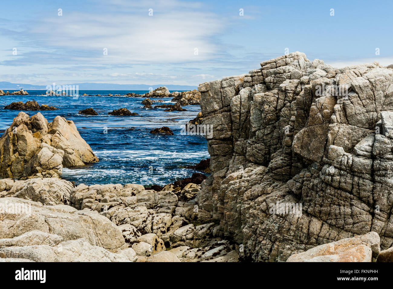 Between Bird Rock and Point Joe, 17 Mile Drive, California, USA - July 1, 2012: The 17 Mile Drive is a scenic road - Stock Image