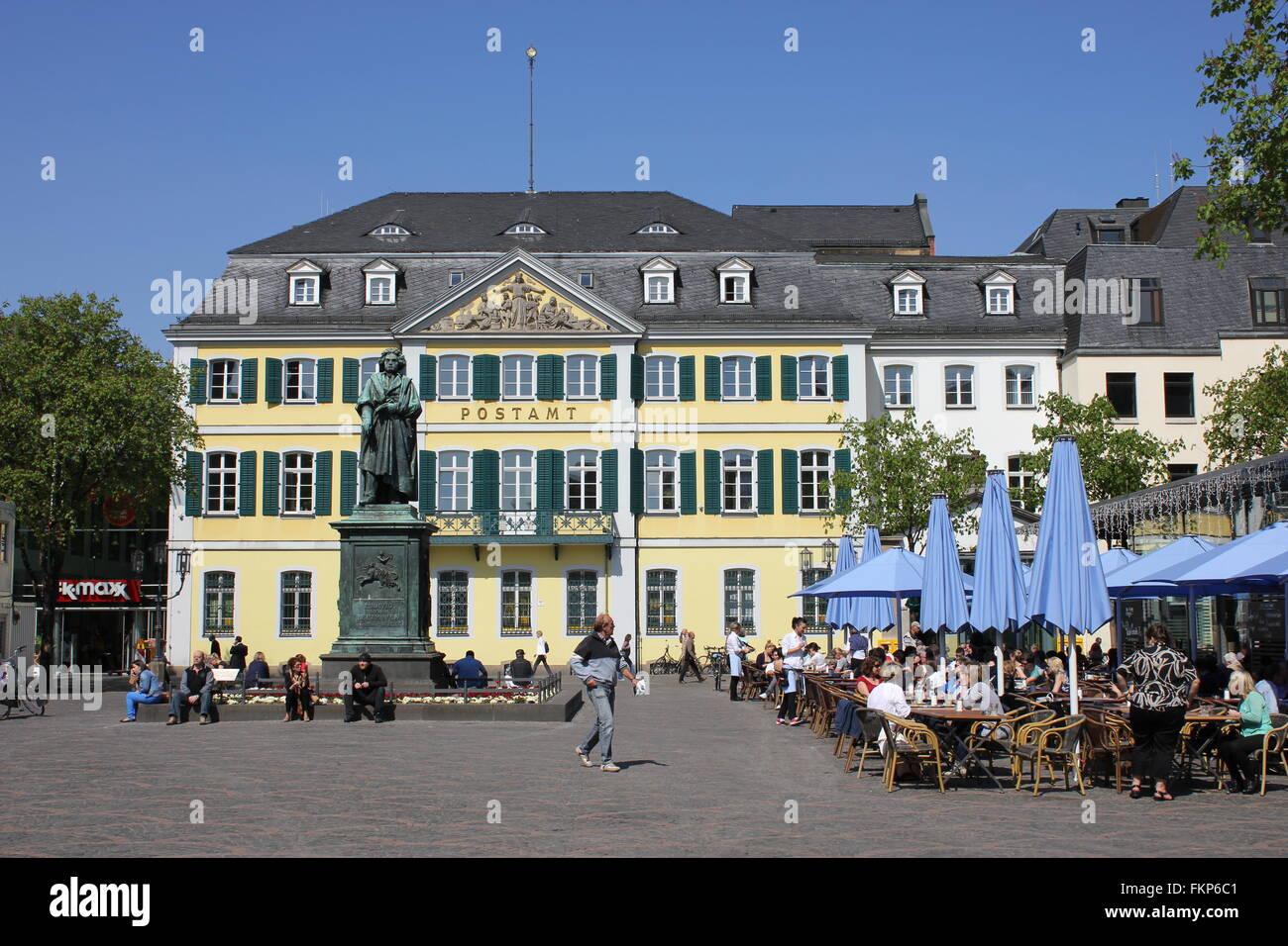 Bonn, Münsterplatz, Beethoven Memorial - Stock Image
