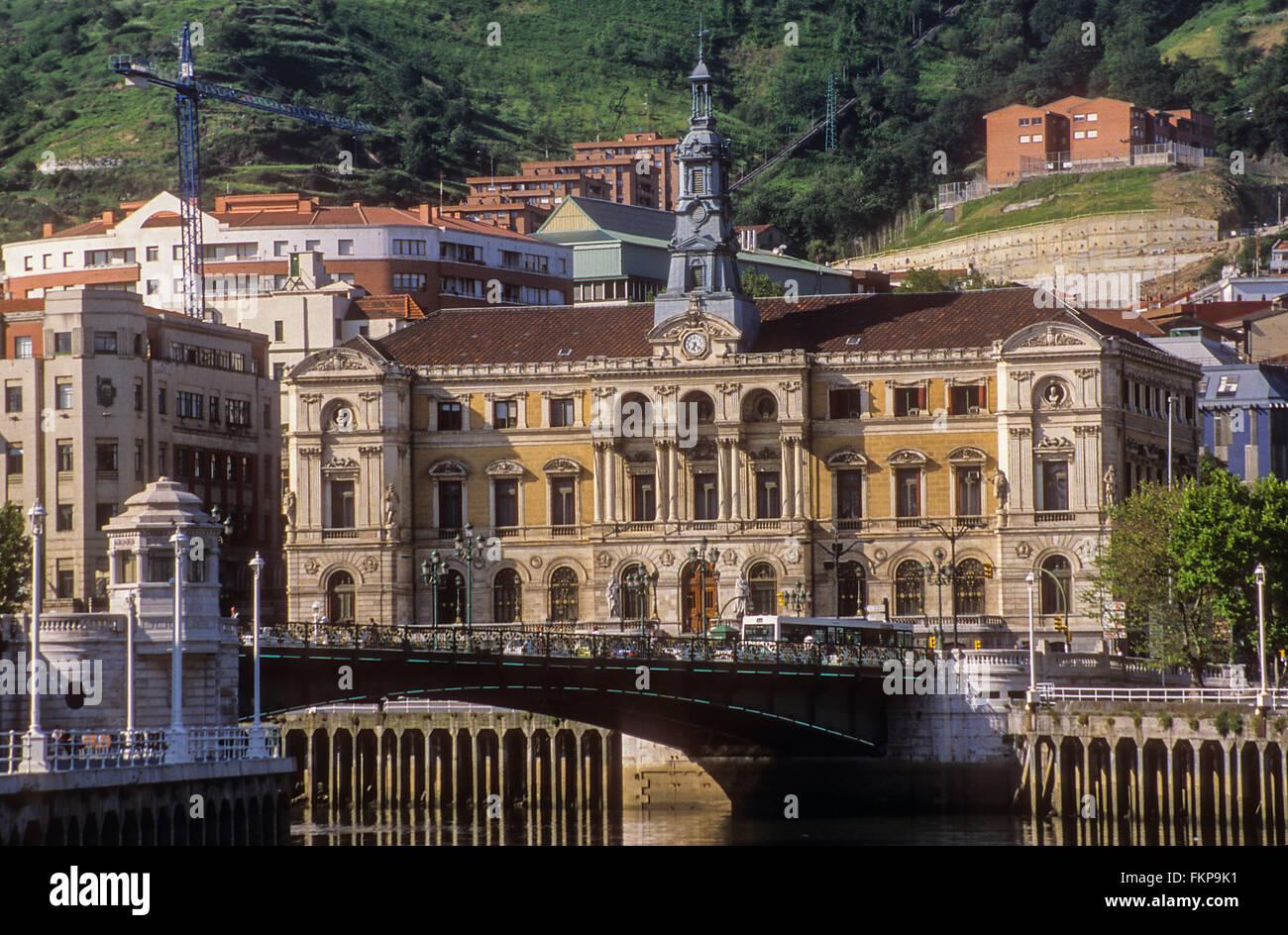 City Hall. Bilbao. Bizkaia. Euskadi. Spain - Stock Image