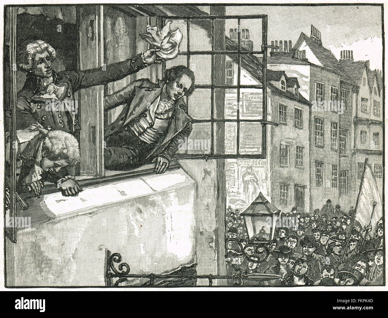 The Priestley Riots in Birmingham 1791 - Stock Image