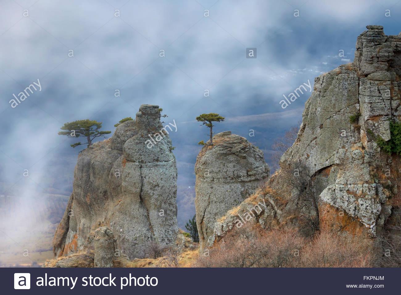 Mysty mountains - Stock Image