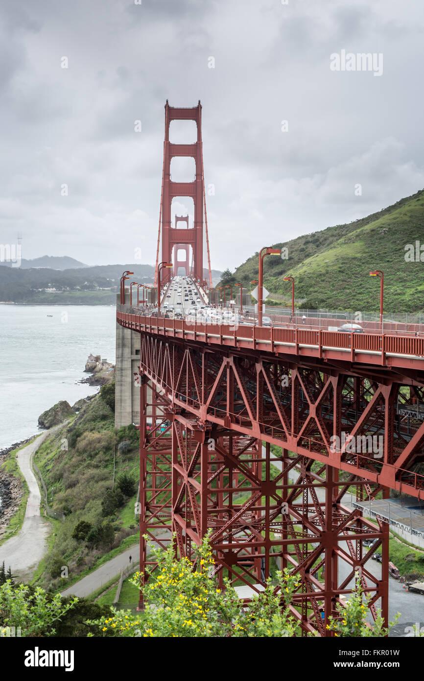 Golden Gate Bridge, San Francisco, California - Stock Image