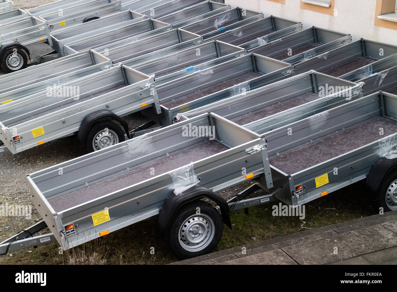 New Car Trailers Sale Stock Photos & New Car Trailers Sale Stock ...