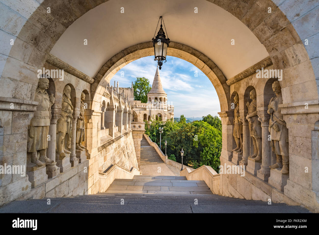 Fisherman Bastion, Budapest, Hungary - Stock Image