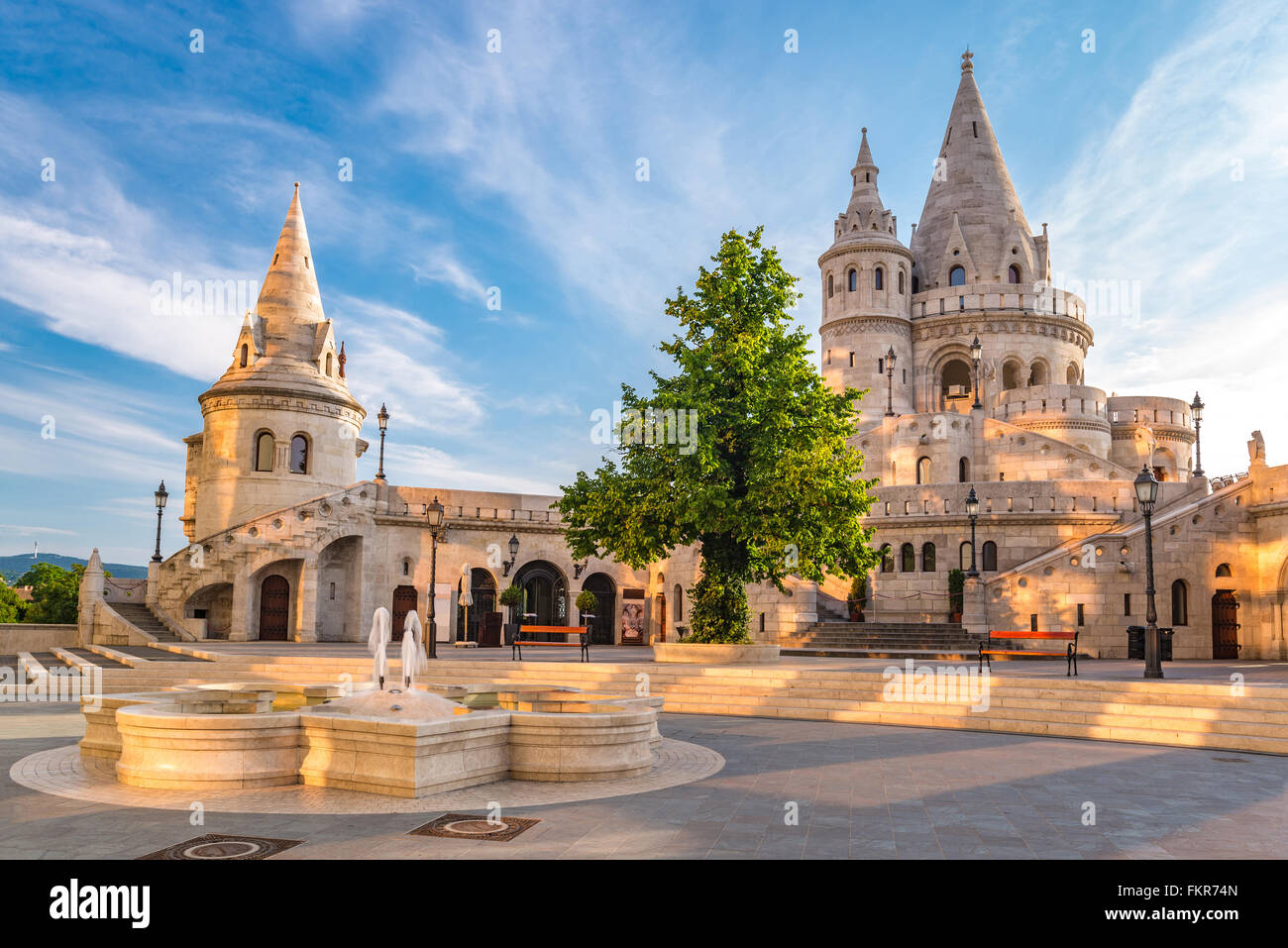 Fisherman Bastion, Budapest, Hungary Stock Photo