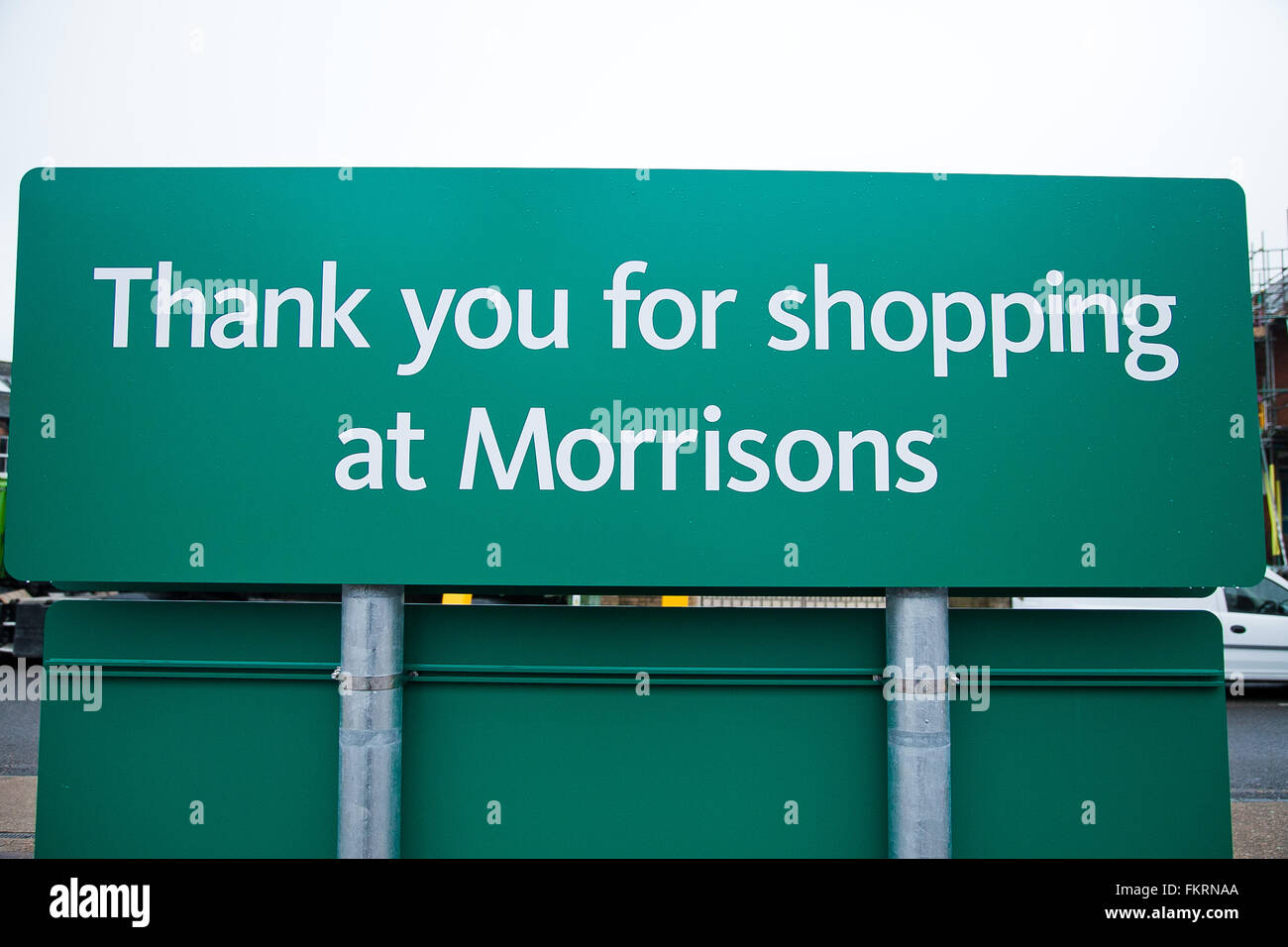London, UK. 10th March 2016.  Supermarket Morrisons annual profits fall for fourth consecutive year. The Bradford Stock Photo