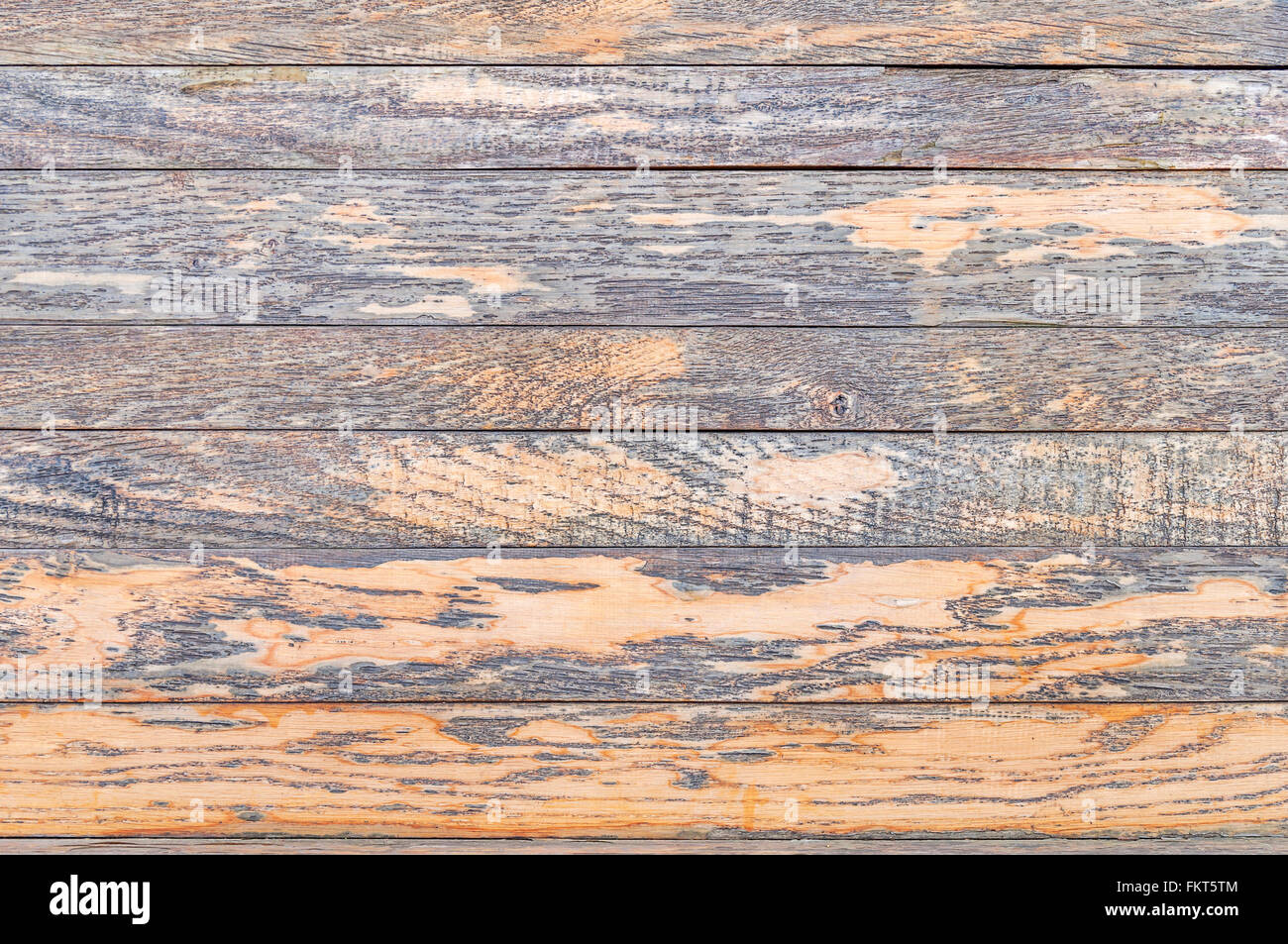 Rustic weathered barn wood - Stock Image