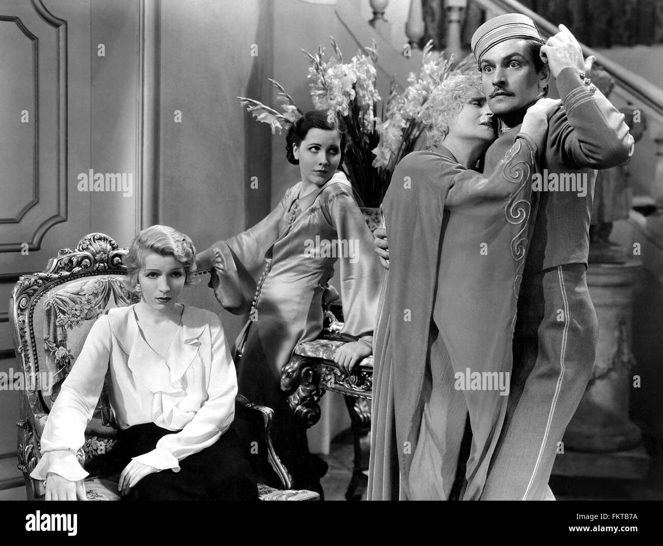 Portrait of Claire Ina in Royal Family of Broadway The - Stock Image
