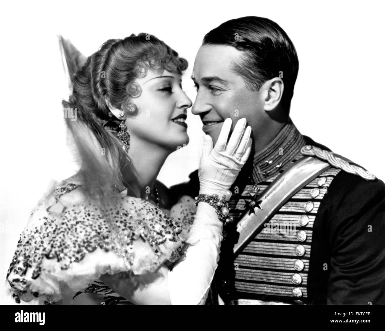 Portrait of MacDonald Jeanette in Merry Widow The - Stock Image
