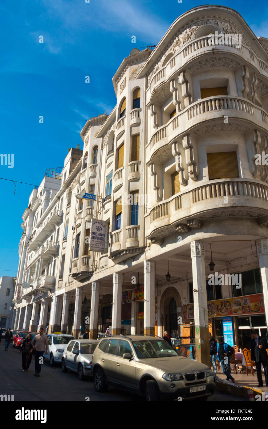French Colonial Architecture Rue Colbert Casablanca Morocco Stock