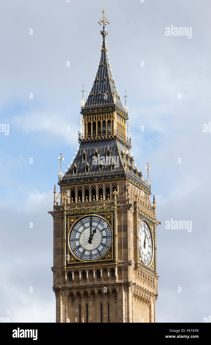 The Elizabeth Tower,commonly known as 'Big Ben',is part of The Palace of Westminster and is a worldwide - Stock Image