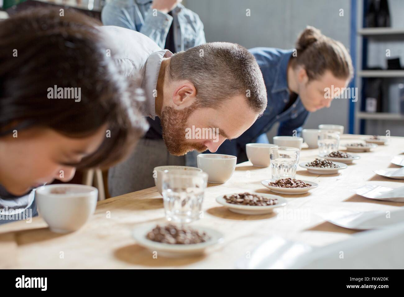 C fee tasters smelling cups   c fee Stock Photo