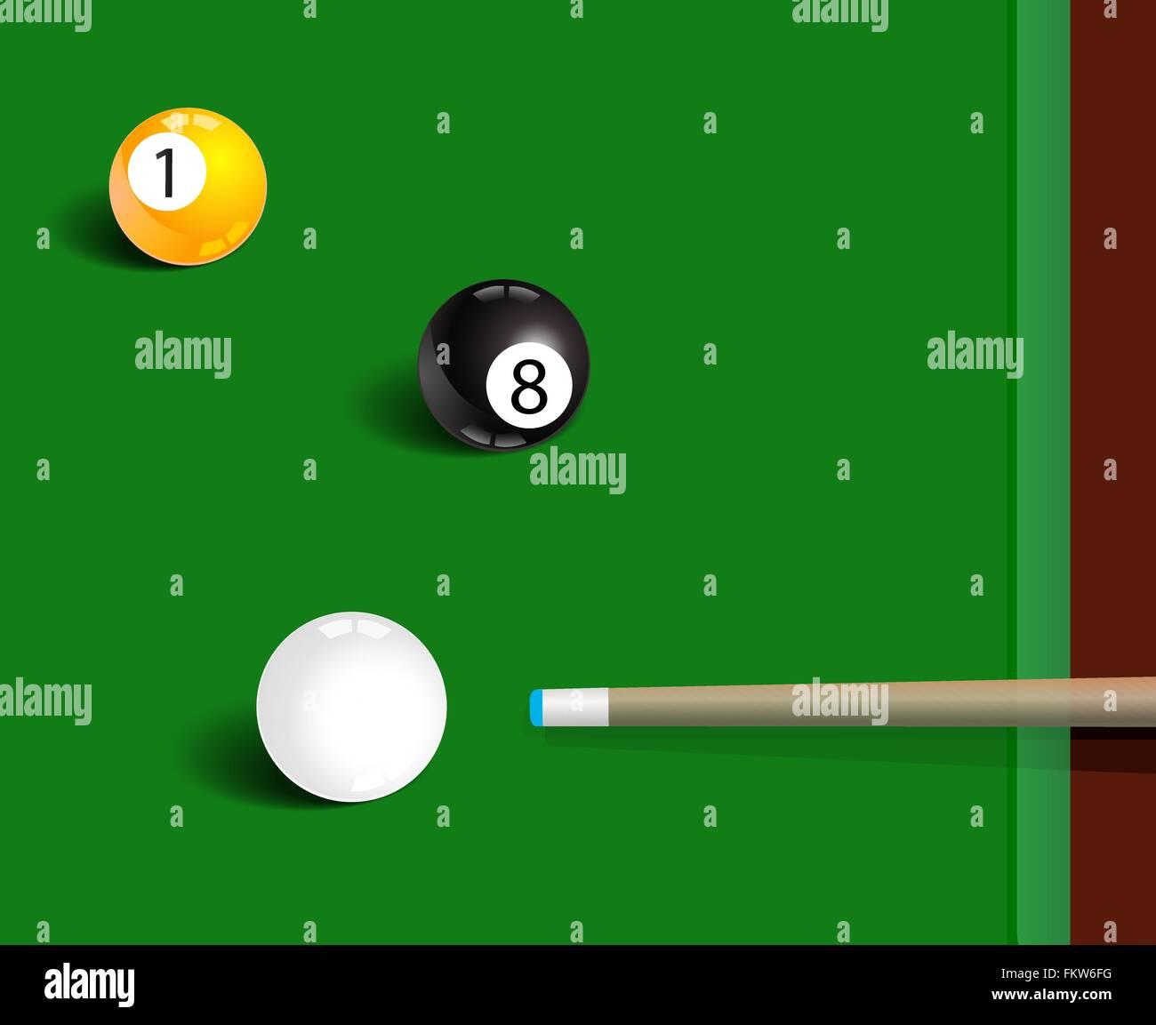 Billiards sport game background - Stock Vector