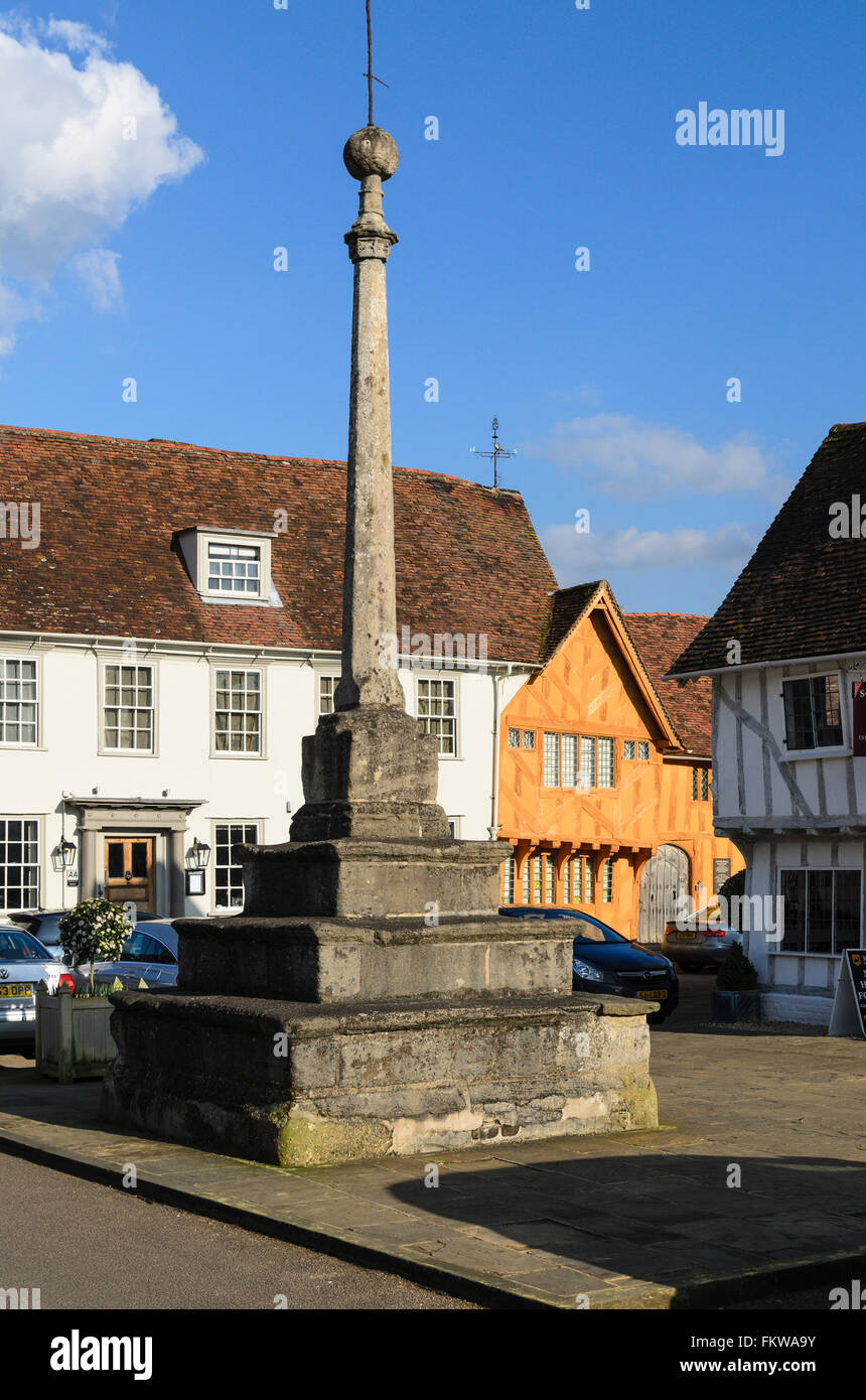 A monument in the Market Place, Lavenham, Suffolk, England, United Kingdom. Stock Photo