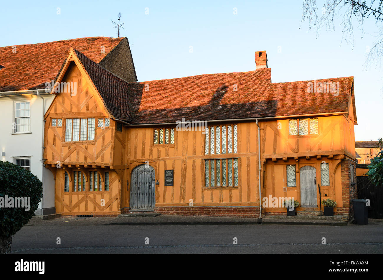 The 14th Century Little Hall at Lavenham, Suffolk, England, United Kingdom. Stock Photo