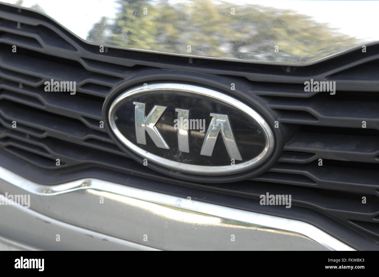 Kia motors cooperation- (stylized as KIΛ), headquartered in Seoul, is South Korea's second-largest automobile - Stock Image