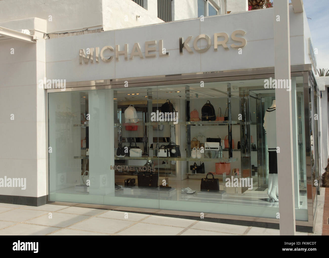14f4bfdc610e Michael Kors shop in Puerto Banus in Malaga Stock Photo: 98288900 ...
