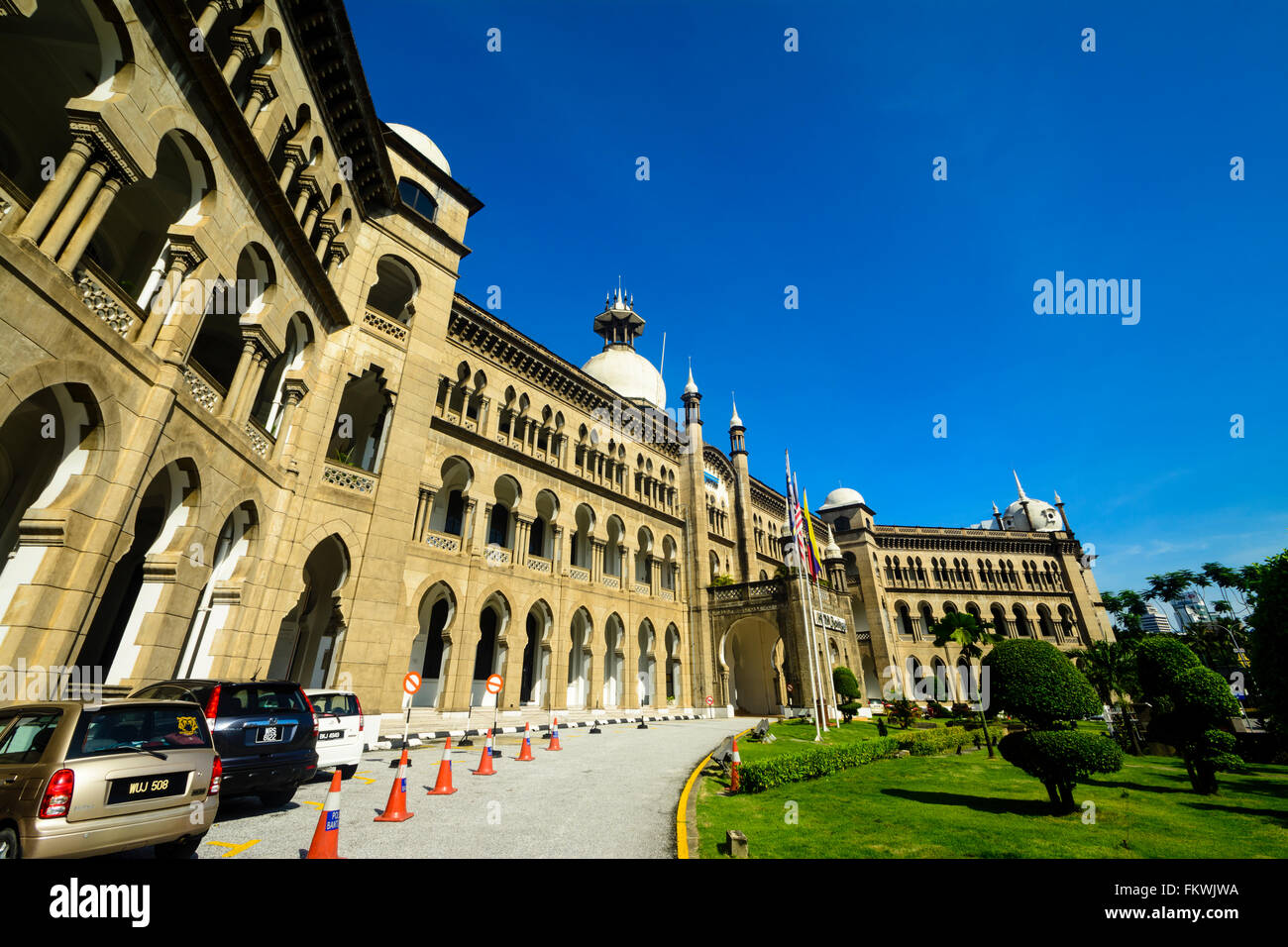 KTM Headquarters building (formerly the FMS Railway Administration Services Central Office) - Stock Image