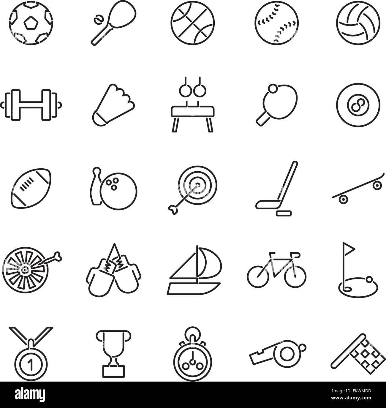 Line Icons Related Badminton Stock Photos Line Icons Related